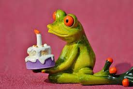 free photo greeting card frog birthday happy birthday greeting