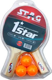 Star Table Stag 1 Star Play Set 2 Bats Table Tennis Kit Buy Stag 1 Star