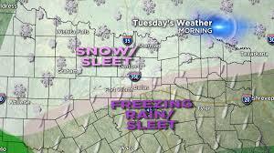 Texarkana Weather Radar Map Couple Of Days Of Winter Weather Cbs Dallas Fort Worth