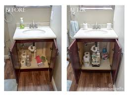guest bathroom organization before and after organizing homelife