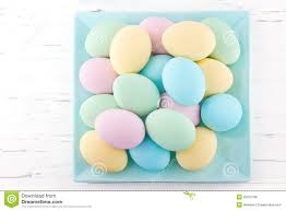 pastel easter eggs pastel color easter eggs on a plate royalty free stock image