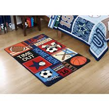 Rv Rugs Walmart by Mainstays Kids All Star Rectangular Royal Plush Rug Multiple