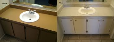 Bathroom Cabinet Refacing Before And After by Bathroom Services Newlife Surface Technology