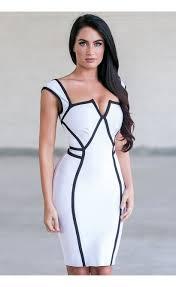 white bodycon dress white and black bodycon dress cocktail dress boutique