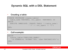 Oracle Create Table Example Plsql Les06