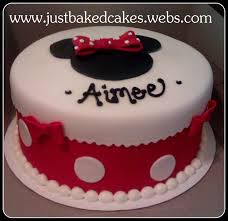 Red Minnie Mouse Cake Decorations Minnie Mouse Birthday Cake Just Baked Cakes And Cupcakes
