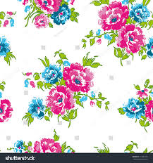 Design Your Own Virtual Home by Floral Seamless Pattern Use Backgrounds Fill Stock Illustration