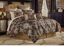 Red Gold Comforter Sets Croscill Bradney Jacquard 4 Piece King Comforter Set Bedding D3234