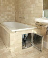 tiled baths bath panel cover home safe