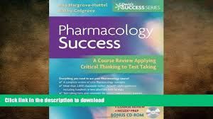 read book pharmacology success a course review applying critical
