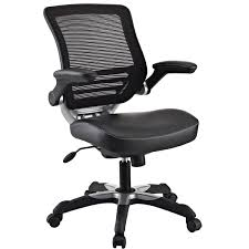 Ergonomic Office Chairs With Lumbar Support Modern Black Mesh Back Ergonomic Office Chair With Flip Up Arms