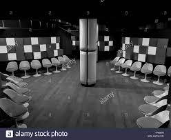 waiting room with chairs in hospital clean room with shapes in 3d