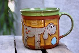 dog mug handmade ceramic animals handmade mugs kids mug