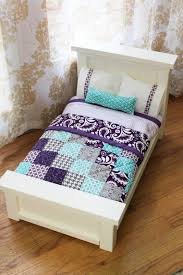 how to make american girl doll bed from dahlias to doxies diy doll beds and tiny quilts