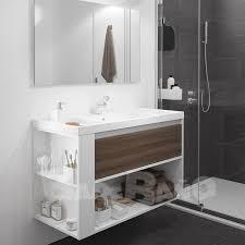 muebles de lavabo mueble baño de un cajón y un estante 80 cm diferentes acabados y color