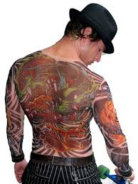 wild rose 208 mens tattoo mesh shirt with yakuza style dragon