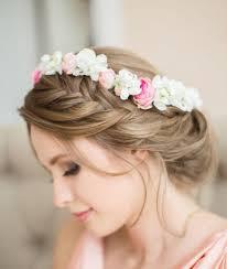 fleurs cheveux mariage coiffures mariage cheveux longs chignon coiffure femme cheveux