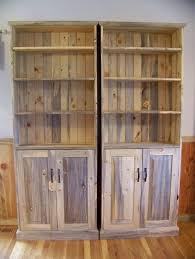 beetle kill pine bookcase u0026 storage cabinet by rockyblue
