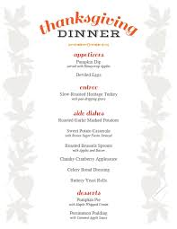 free printable thanksgiving menu and place cards printable