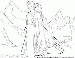 elsa anna coloring pages coloring