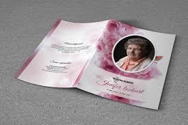 Funeral Programs Printing Printable Bi Fold Funeral Program Template Obituary Template