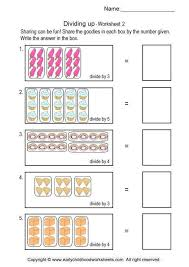 division beginning division worksheets with pictures free math