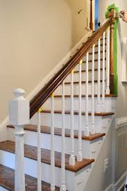 Painting A Banister Black How To Install A Stair Runner Young House Love