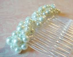 hair decoration large white pearl haircomb chunky pearl hair comb decorative comb