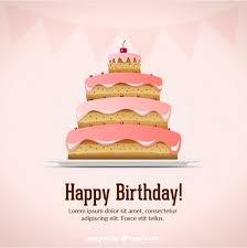 happy birthday card with a fabulous cake vector free