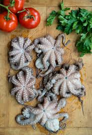 Octopus Home Braised Polipetti Baby Octopus With Squid Ink Chitarra Pasta