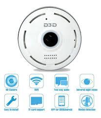 d3d security 1 d3d fisheye 360 smart camera 1 power adapter 1