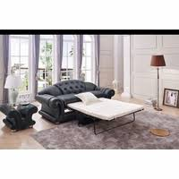 Pull Out Sleeper Sofa Versace Luxury Button Tufted Ivory Italian Leather Pull Out