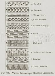 various romanesque moulding ornaments look and learn history