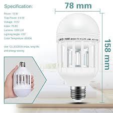 insect killer light bulb bug zapper light bulb 15w 2 in 1 mosquito killer l 1200lm e26