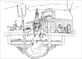 farm witch coloring free printable coloring pages