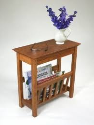 end tables with magazine rack foter