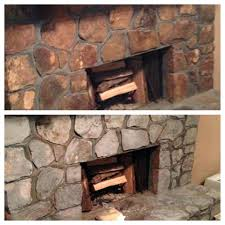 painting stone fireplace white rock ideas fireplaces before and