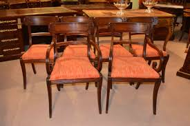 Antique Regency Dining Chairs Beautiful Set 6 Antique Regency Dining Chairs Mahogany