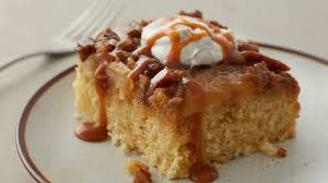 warm caramel apple cake recipe bettycrocker com