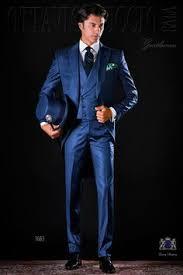 matin mariage costume du matin jaquette classique bleu royal avec revers de