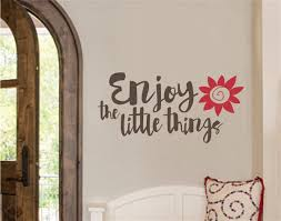 enjoy the little things flowers vinyl decal wall stickers letters enjoy the little things flowers vinyl decal wall stickers letters words home decor