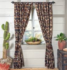 Bathroom Window Curtains by Rustic Curtains Cabin Window Treatments