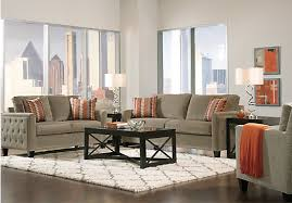 Sofa Rooms To Go by Shop For A Sofia Vergara Uptown Platinum 7 Pc Living Room At Rooms