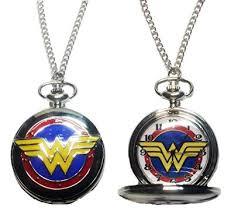 woman necklace watch images Dc 39 s wonder woman silver tone finish pendant pocket jpg