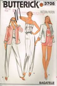 jumpsuit stitching pattern 3705 sewing pattern vintage butterick ladies jumpsuit romper jacket