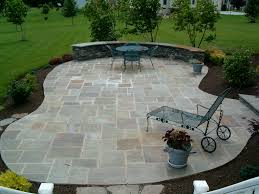 Concrete Ideas For Backyard by Floor Images About Flagstone Patio With Lounge Chairs And Backyard