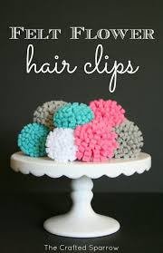 How To Make Flower Hair Clips - sundae scoop top 20 i heart nap time