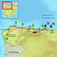 Camino De Santiago Map Santander Santiago Caminos Touring Holidays In Spain