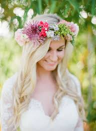 flowers for hair lovely look fresh flower wedding hair style weddceremony