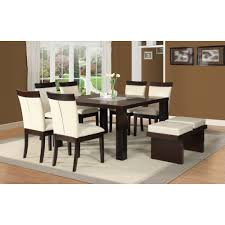 Espresso Dining Room Set by Acme Furniture Keelin Dining Table Set In Espresso Finish Local